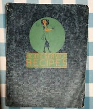 Vintage Gas Company Home Service Recipe Printed Folder 26 Pg Embossed