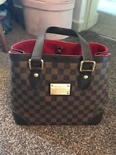 LOUIS VUITTON HAMPSTEAD PM DAMIER EBENE TOTE BAG AUTHENTIC GENUINE DISCONTINUED