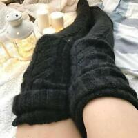 Fashion Knee Socks Women Winter Sexy Knitted Long Socks Warm Stockings Long AU