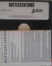 Battlestations (Addictive 1988) C64 Diskette (Manual, Disk) 100 % ok