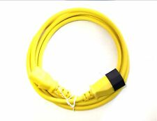 3 METRE YELLOW. IEC POWER EXTENSION CABLE LEAD. MALE C13 TO FEMALE C14.