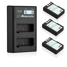 EN-EL9 EN-EL9a Battery + Dual LCD USB Charger For Nikon D40 D40X D60 D3000 D5000