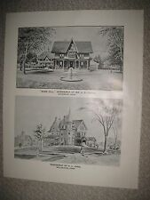 LARGE ANTIQUE 1893 WATERBURY WALLINGFORD CONNECTICUT PRINT JUDD CHASE FAMILY NR