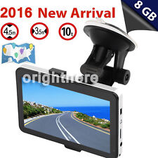 5'' Truck Car Navigation Gps Navigator Sat Nav 8Gb All Us Canada Map Speedcam Un