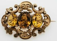 Victorian Broch 9ct gold with Citrine
