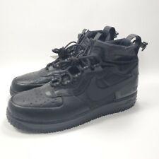 Nike Air Force 1 WTR GTX Winter Gore-Tex Triple Black CQ7211-003 Men's Size 14