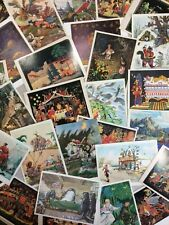 Vintage Ephemera Paper Lot 39 Animation Postcards Russian Tales Palekh ART