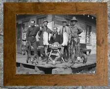 "Remarkable... Trophy Antlers, Old Cabin ...  Antique Hunting 8""x12""  Photo Print"