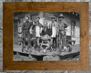 """Remarkable... Trophy Antlers, Old Cabin ...  Antique Hunting 8""""x12""""  Photo Print"""
