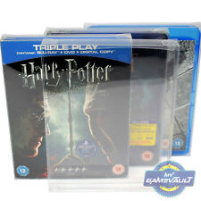 25 x Blu Ray Box Protector STRONG 0.4mm PET Plastic Case FIT Steelbook,Slipcover