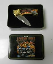 "Rebel Collection Ride To Live 3"" Folding Knife in Collector Tin VF+ Unused"