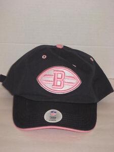 Womens NFL Team Headwear Cleveland Browns Adjustable Logo Hat Cap Blue Pink NWT