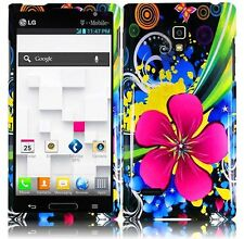 For T-Mobile LG Optimus L9 HARD Protector Case Snap Phone Cover Eternal Flower