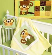 SEWING PATTERN! MAKE BABY NURSERY MONKEY QUILT~BLANKET~WALL HANGING! ACCESSORIES