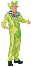70's FANCY DRESS COSTUME ~ Big Daddy Pimp GREEN M/L