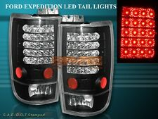 97-02 FORD EXPEDITION LED L.E.D. TAIL LIGHTS BLACK 98 99 00 01