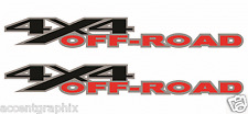 2 - 4x4 Offroad Decals Stickers - Dodge 4x4 Truck Accessories Black/Silver/Red