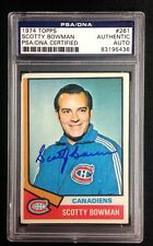 SCOTTY BOWMAN SIGNED 1974 TOPPS ROOKIE CARD CANADIENS #261 PSA/DNA Auto RC