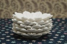 marble lotus plates 3 pcs lot stone decorative serving dish, leaf design plates