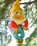 Large Gnome rope hanging swinging ornament decoration sculpture Gnome lover gift
