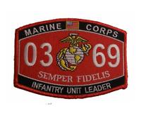 MARINE CORPS 0369 INFANTRY UNIT LEADER PLATOON SERGEANT MOS SEMPER FIDELIS PATCH