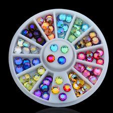 Chic Colors 3D Acrylic Rhinestone Beads Glitter DIY Nail Art Decorations Wheel