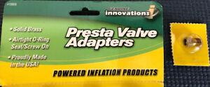 Genuine Innovations Brass Presta Valve Tube Adapter Bicycle