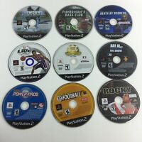 Lot of 9 PS2 Playstation 2 Games MLB NFL Rocky WSP UNTESTED HG4