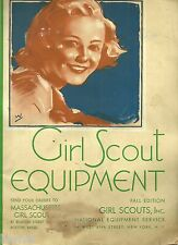 VINTAGE 1930's GIRL SCOUT EQUIPMENT CATALOG - FALL EDITION - FREE SHIPPING