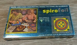 FACTORY SEALED 1970 KENNER TOYS SPIROGRAPH SPIROFOIL DESIGN DRAWING CRAFT MIB