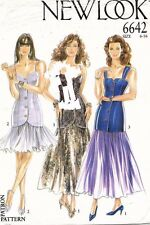 1980's VTG New Look Misses' Top and Skirt Pattern 6642 Size 6-16 UNCUT