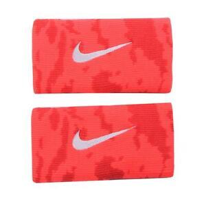 Nike Dri-Fit Camo Doublewide Wristbands Orange NNNF2824OS