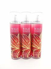 Bath Body Works 3 Wild Madagascar Vanilla Fragrance Mist Body Spray 8oz Lot