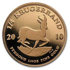 2010 South Africa 1/4 oz Proof Gold Krugerrand - SKU #71372