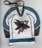 NHL Licensed Lil' Sport Jersey  Key Chain - San Jose Sharks
