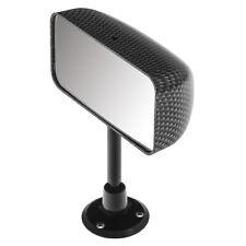 Rear view Mirror Flat glass Dash mounted Carbon fibre effect Universal NEW