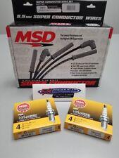 MSD 32813 Black Wires & 8 NGK TR55GP Platinum Spark Plugs LS Corvette Firebird