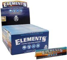 1x Box Elements King Size Slim Cigarette Rolling Paper (FULL BOX)