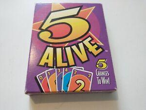 Vintage 1994 Mattel Card Game 5 Alive Used Complete good Condition