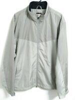 Greg Norman For Tasso Elba Windwear $79 Mens XXL 2XL City Taupe Full Zip Jacket