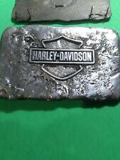 Harley Davidson HOG Pewter Medallion Plaque art wall sign saddelbag leather