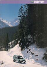 Land Rover Discovery 1996-97 UK Market Sales Brochure MPi TDi V8i S ES XS