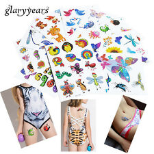 Girls/Boys GLITTER Temporary Tattoos Great for Party Bags Sheet Size 14.8x10.5cm