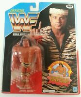 WWF - WWF Hasbro Superfly Jimmy Snuka 1991 Series 2 Carded Spanish Figure MOC