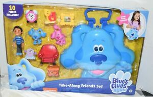 Blue's Clues & you 10 Pieces Take-Along Friends Set Case for Figurines