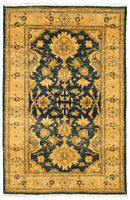 "Hand-knotted  Carpet 3'1"" x 4'10"" Peshawar Finest Ottoman Wool Area Rug"