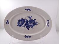 "VINTAGE VASSOIO RAVIERA PORCELLANA COPENHAGEN PRIMI ANNI DEL 1900 ""Blue Flowers"""