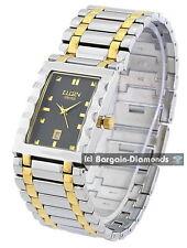 men's Elgin steel gold 2 tone Swiss business success watch calendar gift box