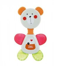 Baby Bear Rattle with Water & Elastic Teether, 0m+ Teething Toy BPA free, Grey