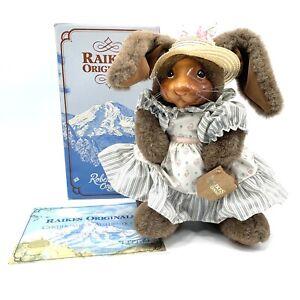 Robert Raikes Originals Jill Rabbit 1988 #1137 w/ Tags COA & Original Box SIGNED